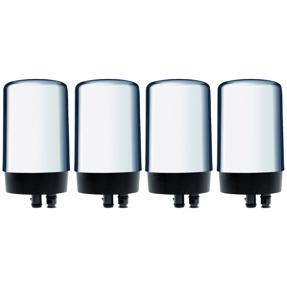 brita on tap replacement water filters 4 pack chrome. Black Bedroom Furniture Sets. Home Design Ideas