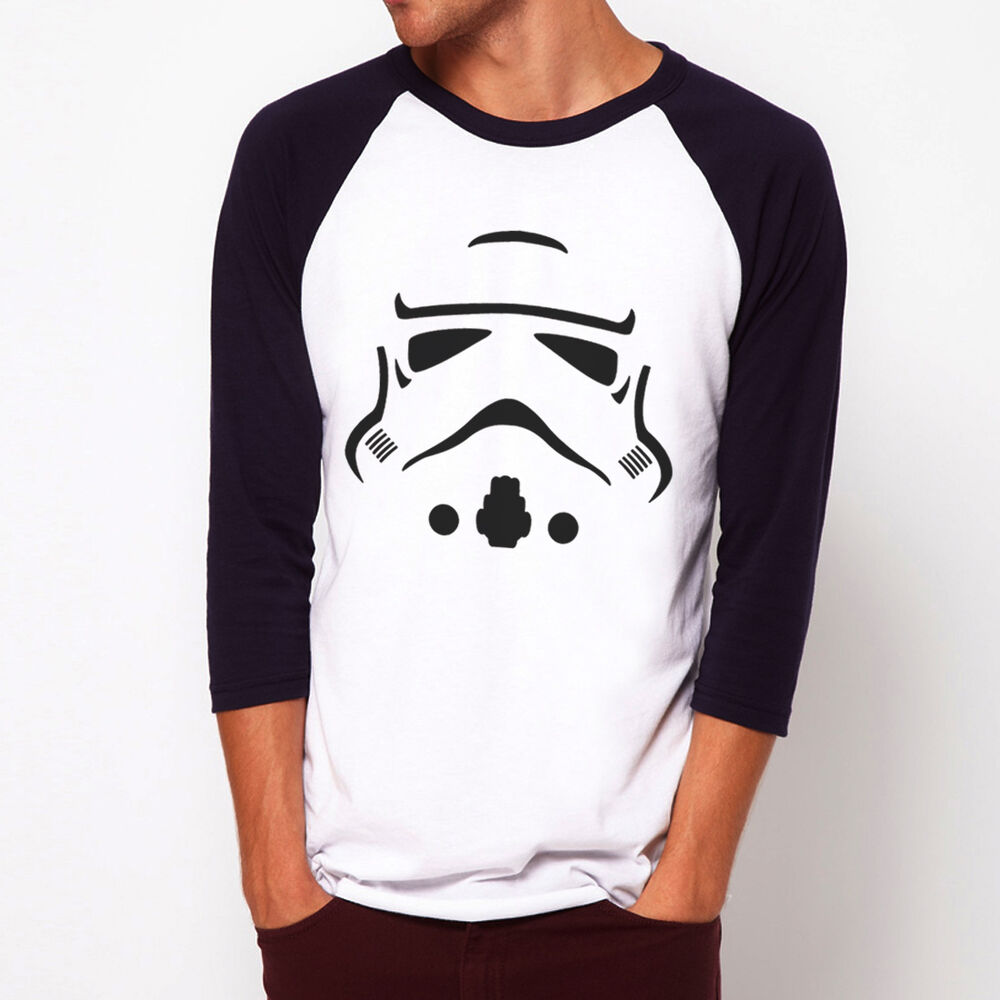 stormtrooper retro star wars baseball jersey t shirt 3 4 sleeve raglan tee ebay. Black Bedroom Furniture Sets. Home Design Ideas