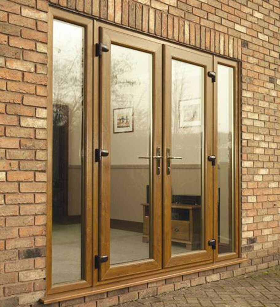 Light oak upvc external french doors new not flat pack for External double doors