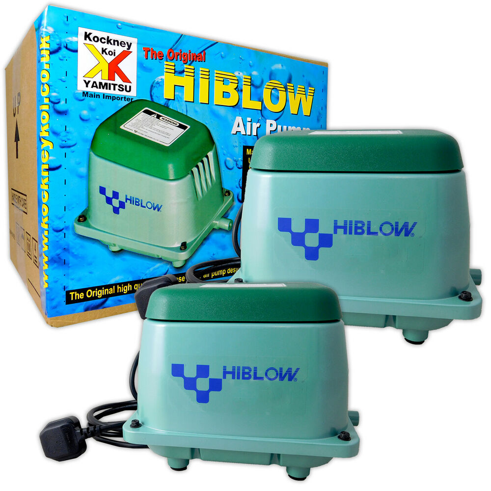 Genuine Japanese Hi Blow Pond Air Pump 20 40 80 100 200 Koi Fish Filtration Ebay