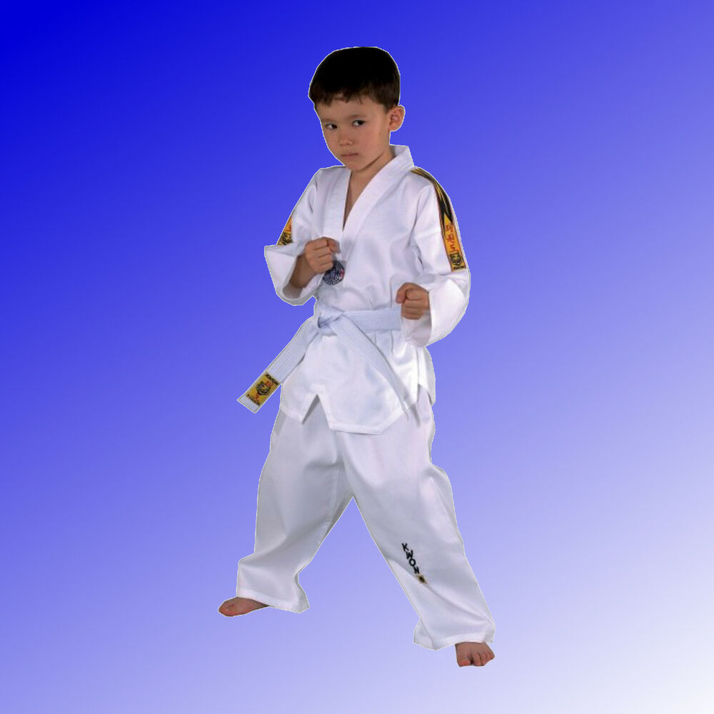 taekwondo anzug tiger junioren kinder dobok wei mit. Black Bedroom Furniture Sets. Home Design Ideas