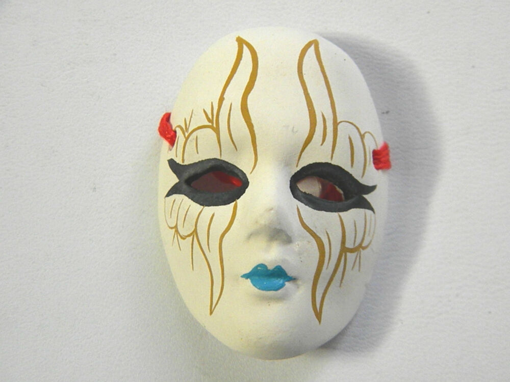 Abstract Design Ceramic Bisque Hand Painted Face Mask