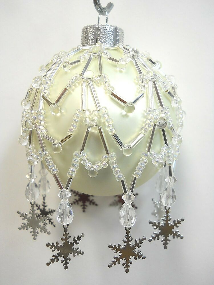 Pattern Only Beaded Christmas Ornament Cover Quot Charmed Snow