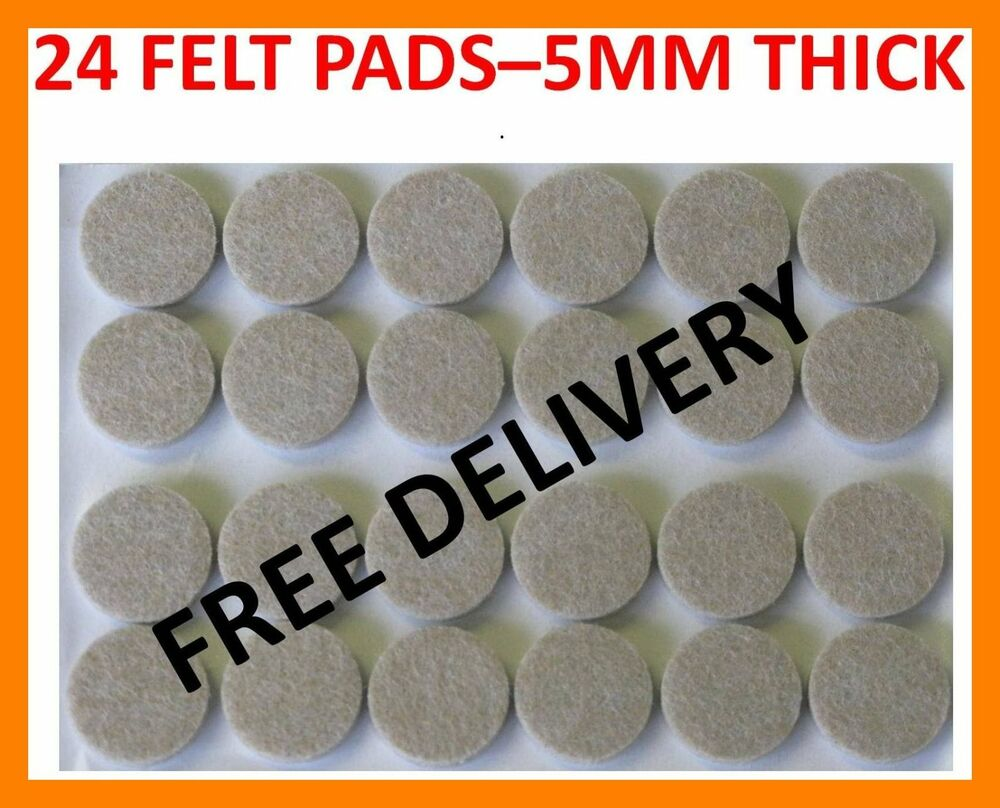 24 Floor Laminate Wood Furniture Protector Felt Pads Ebay