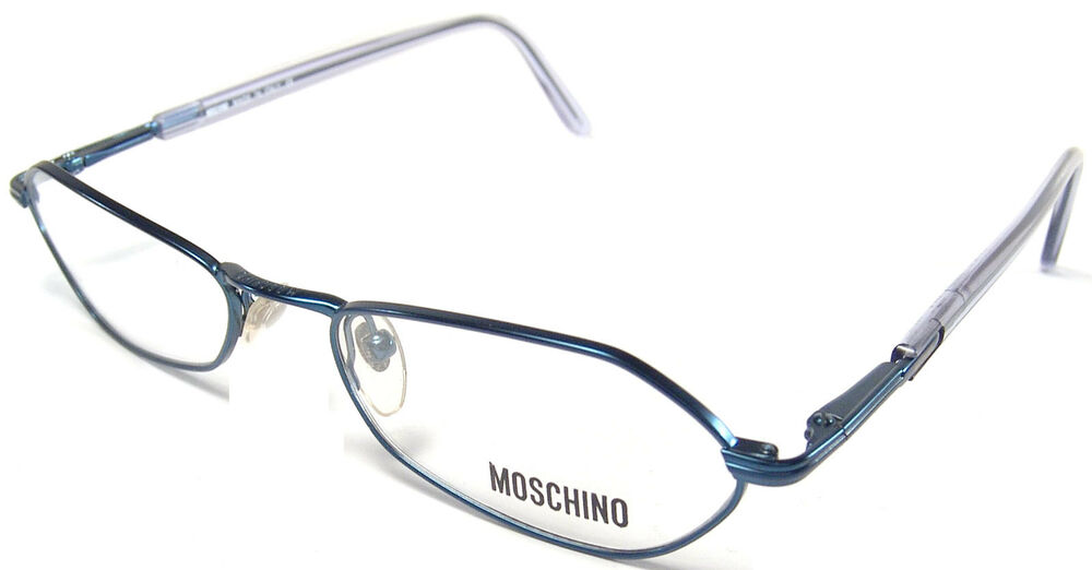 Eyeglasses Frames Small Faces : MOSCHINO RX EYEGLASSES FRAMES M 3168 V 762 S 51X17 BLUE ...