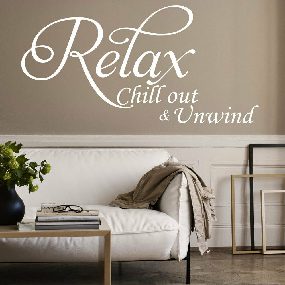 Large Relax Vinyl Art Wall Sticker Quote Bedroom