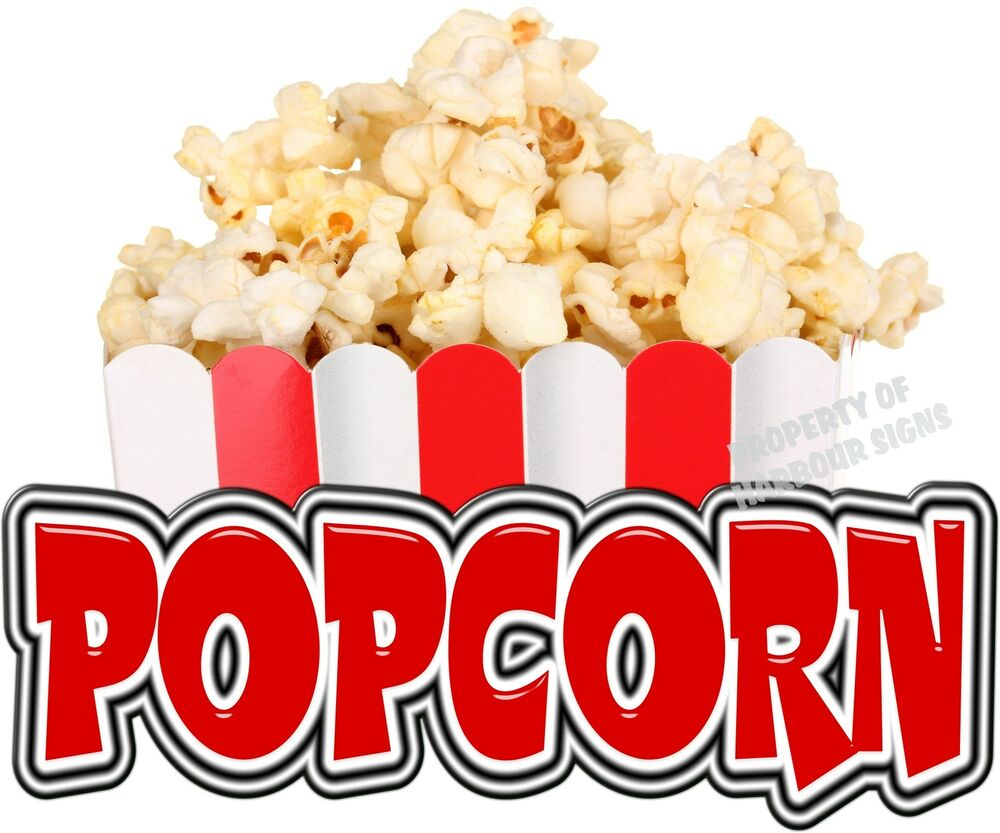 Popcorn 14 Quot Decal Concession Food Truck Cart Trailer