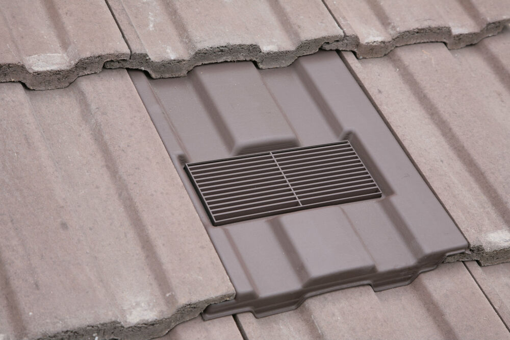 High Quality Roof Tile Vent To Fit Marley Ludlow Major With Optional Adaptor Kit