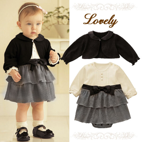 Baby Girl Formal Dress with Cardigan Outfit Christening