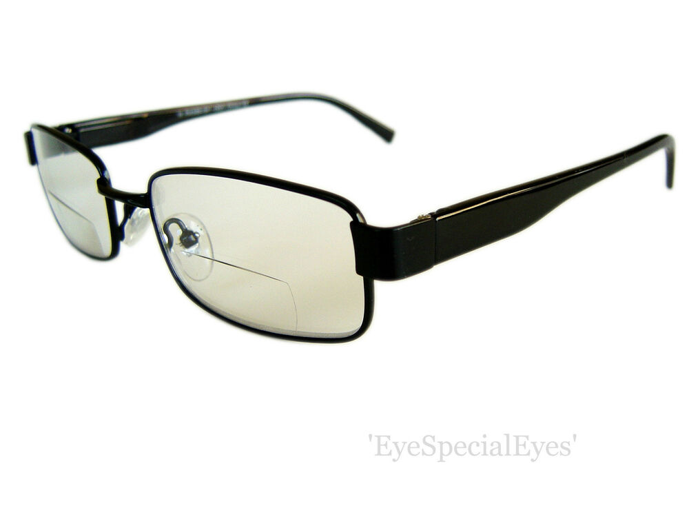 Mens Black Frame Reading Glasses : MENS DESIGNER BIFOCAL READING GLASSES. BLACK FRAME AND ...