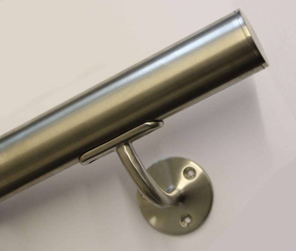 Brushed stainless steel stair handrail high quality