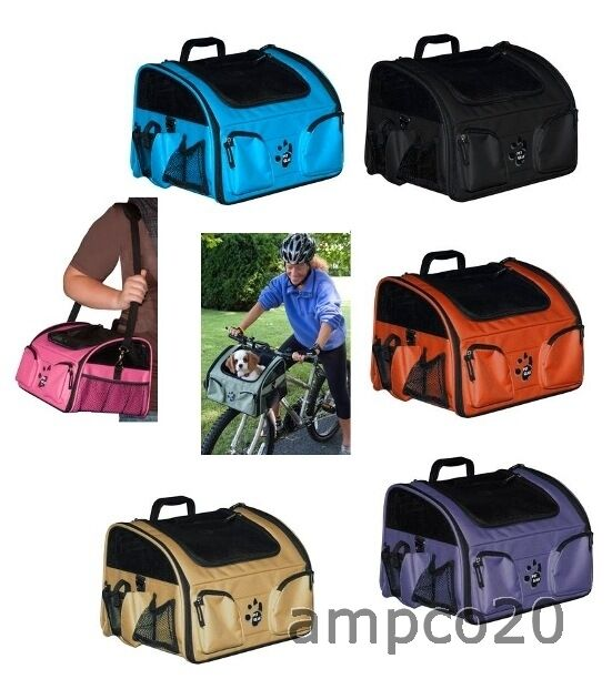 3 in 1 pet bike basket carrier car seat dog cat travel pet gear free shipping ebay. Black Bedroom Furniture Sets. Home Design Ideas