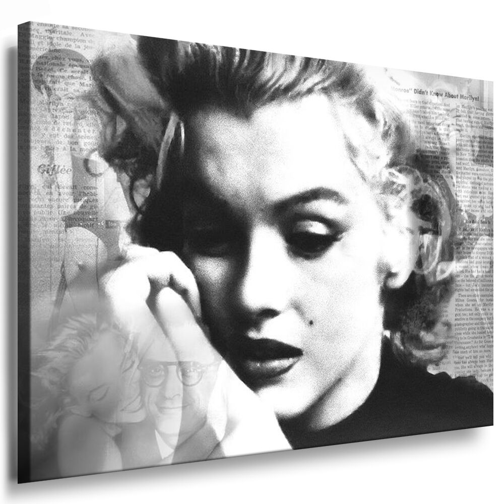 bilder leinwand bild marilyn monroe wandbilder kunstdrucke leinwandbilder ebay. Black Bedroom Furniture Sets. Home Design Ideas