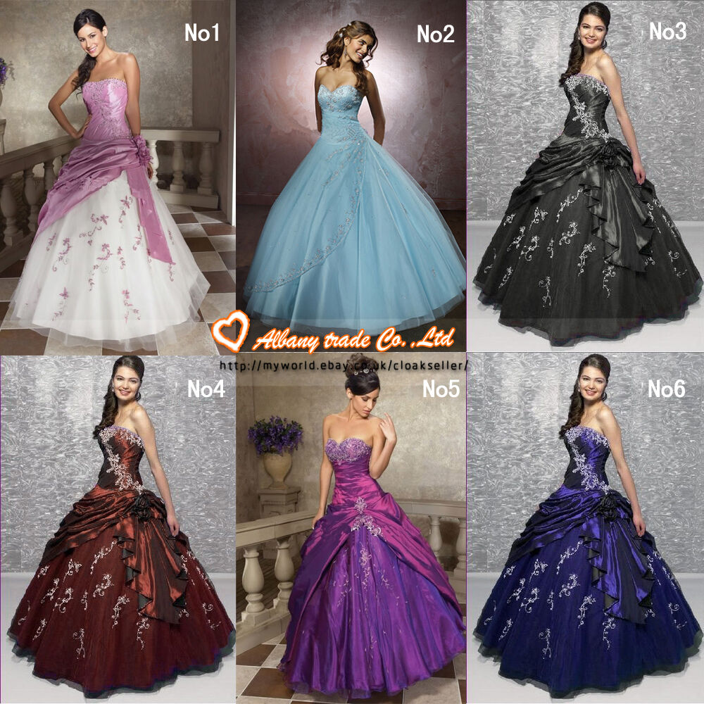 Ball Gown Wedding Dress Size 16 : Dress evening bridal gowns bridesmaid prom ball size