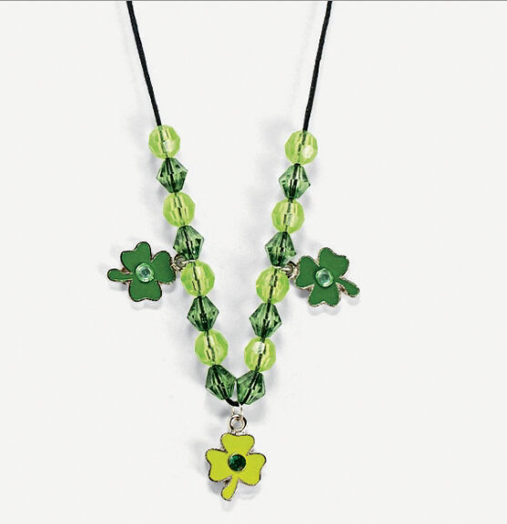 St patrick 39 s day enamel charm necklace jewelry craft kit for Necklace crafts for kids