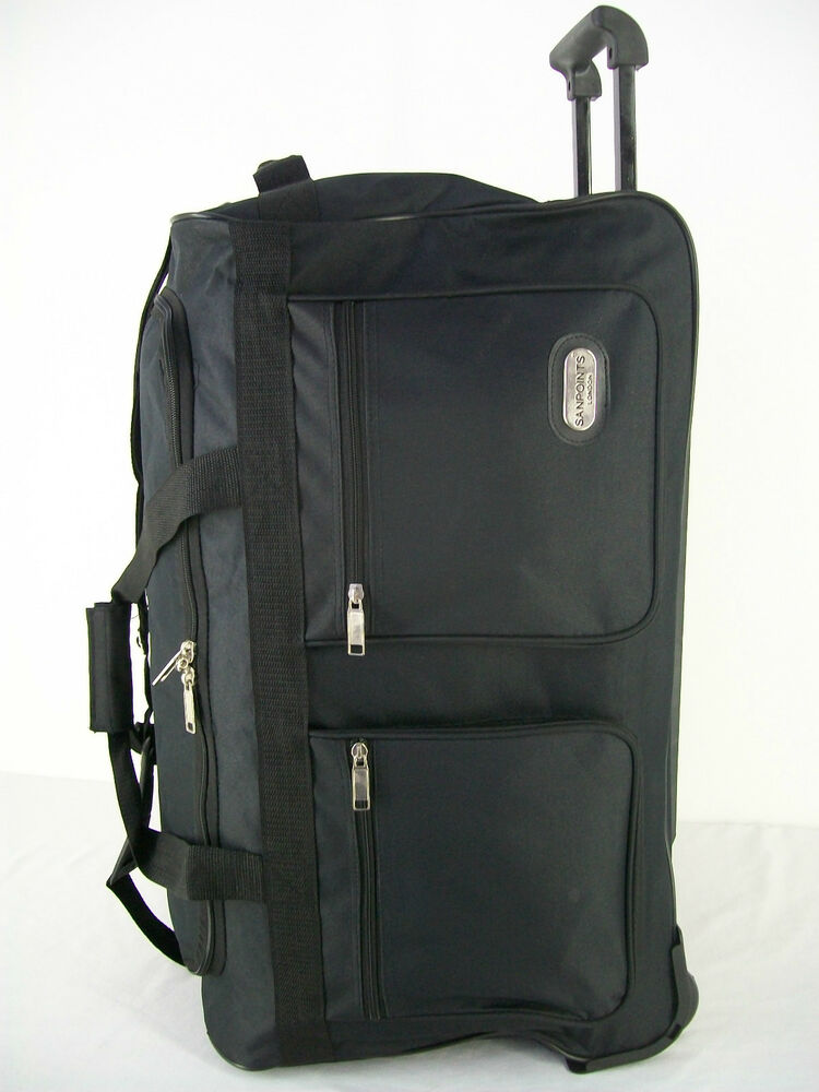 trolley bag on wheels luggage holdall choice of small. Black Bedroom Furniture Sets. Home Design Ideas