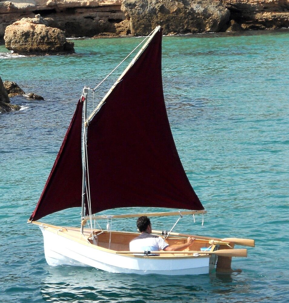 """DIY Boat Building Plans for ROTHER 2.5 """"Mini Gaffer"""" Plywood Sailing ..."""