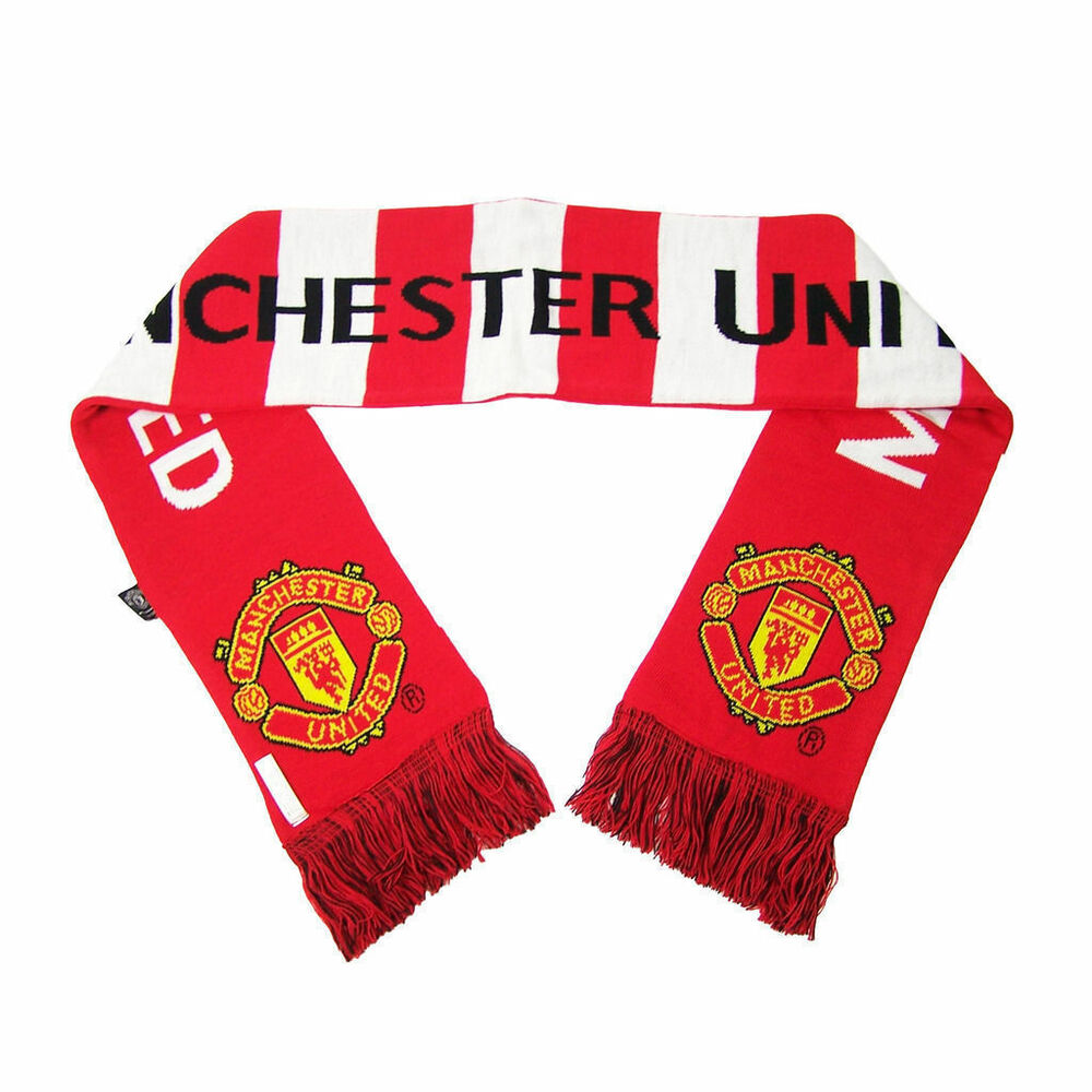 manchester united scarf official authentic new soccer mufc