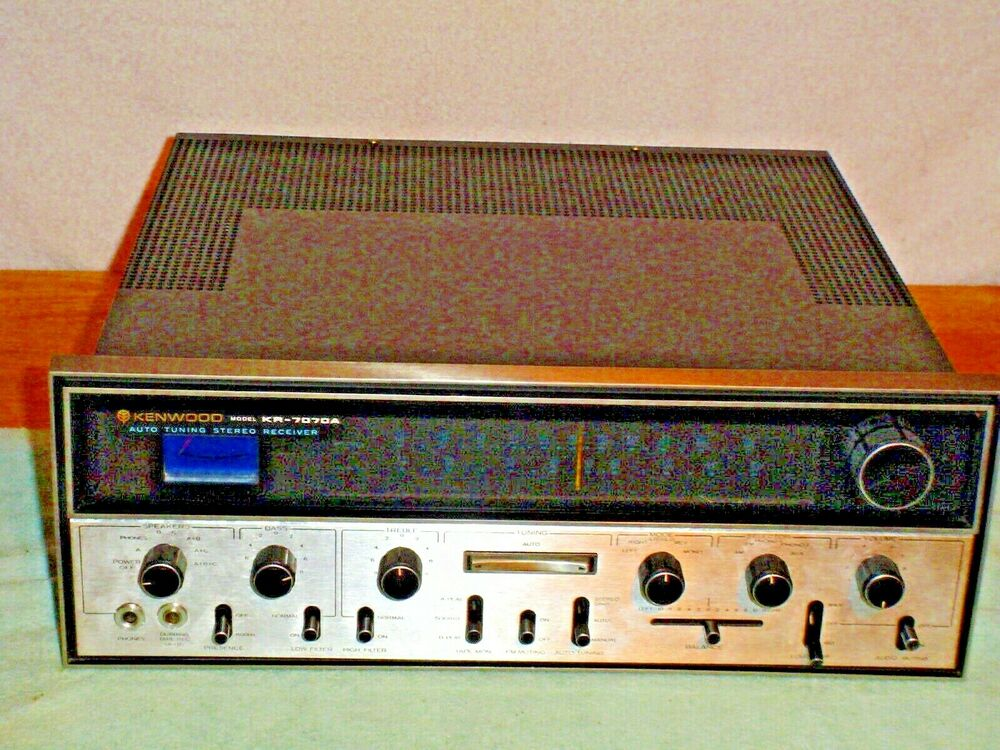 kenwood auto tuning stereo fm am receiver model kr