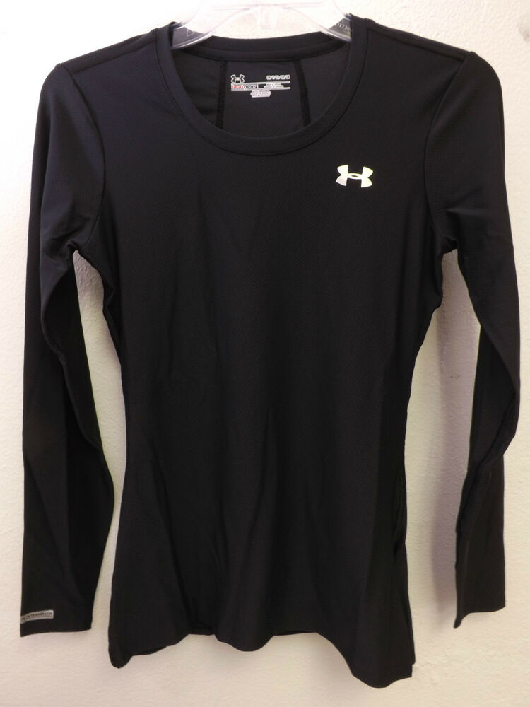 Nwt Under Armour Women 39 S Heatgear Fitted Black Long Sleeve