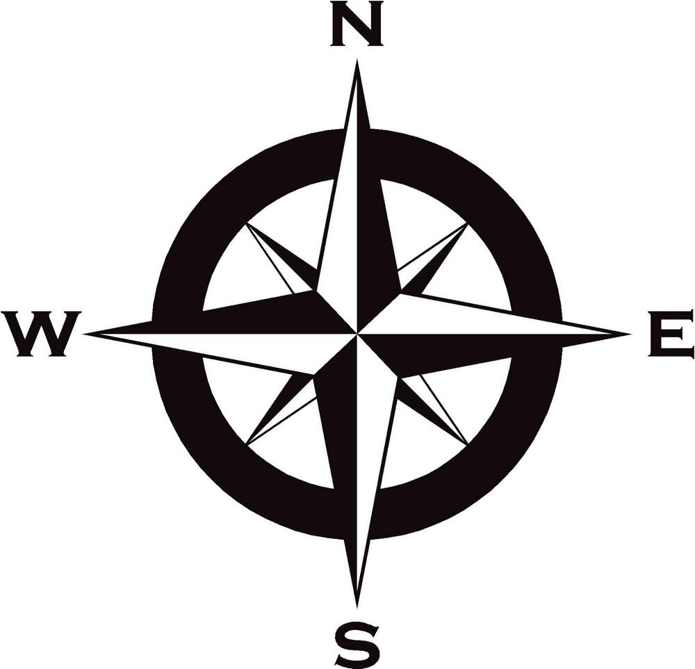 compass decal  sticker 450mm in any colour for motorhome