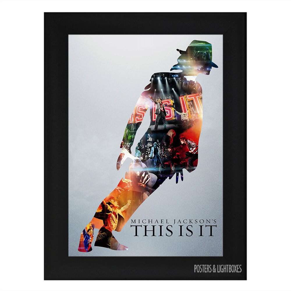 MICHAEL JACKSON THIS IS IT Framed Music Poster A4 Black Frame : eBay