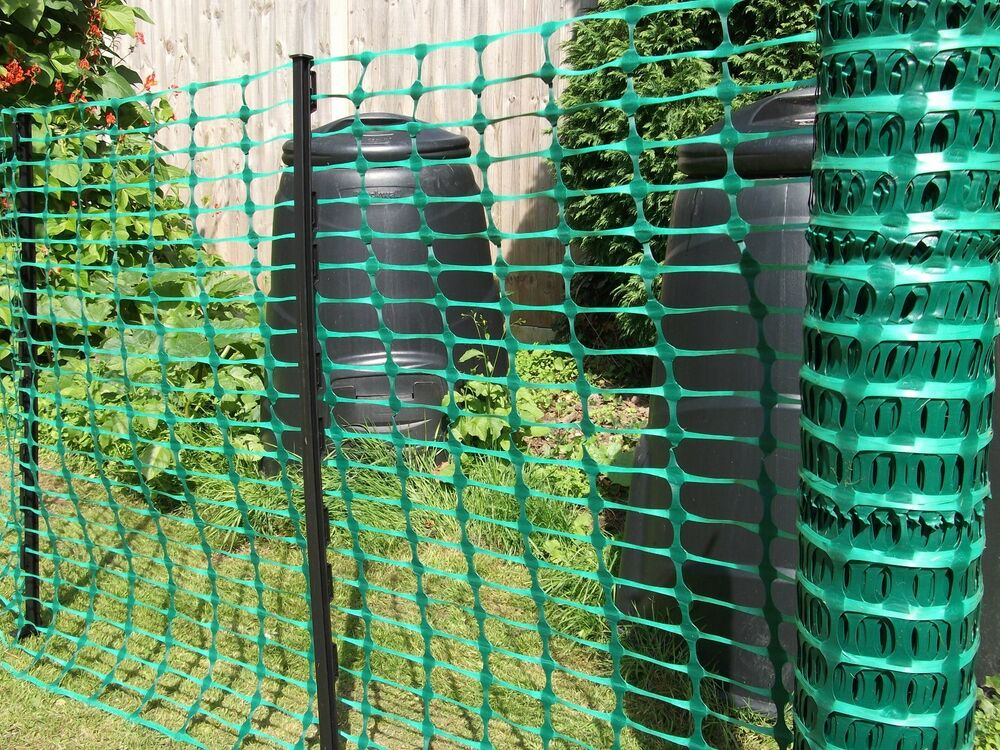 50m Green Plastic Mesh Barrier Safety Event Fence 5 5kg