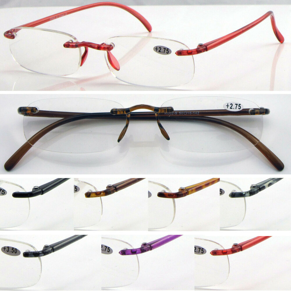 l9 lightweight memory plastic rimless reading