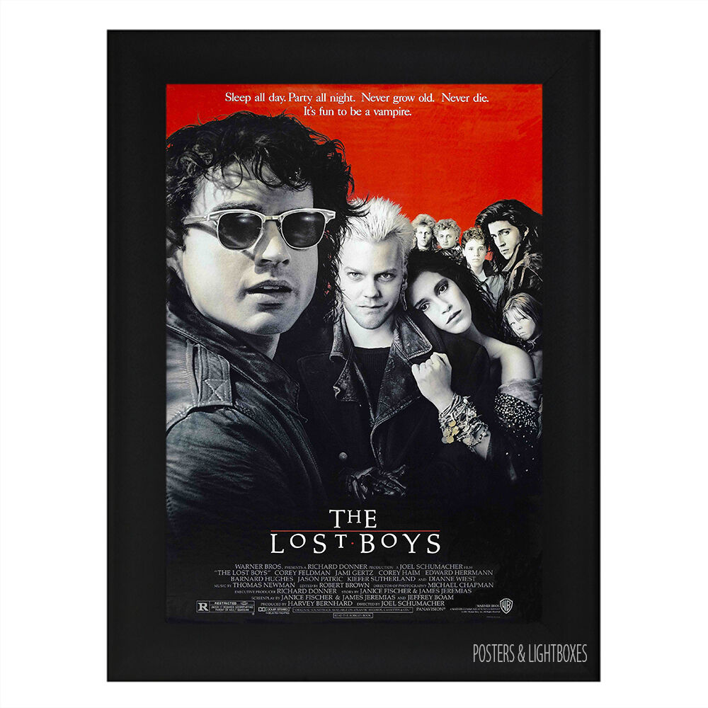 THE LOST BOYS VAMPIRE Framed Film Movie Poster A4 Black