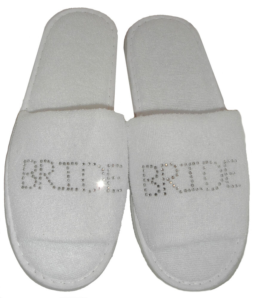 Childrens Wedding Gifts: Personalised Slippers WEDDING SPA Bridal Gift Hen Party