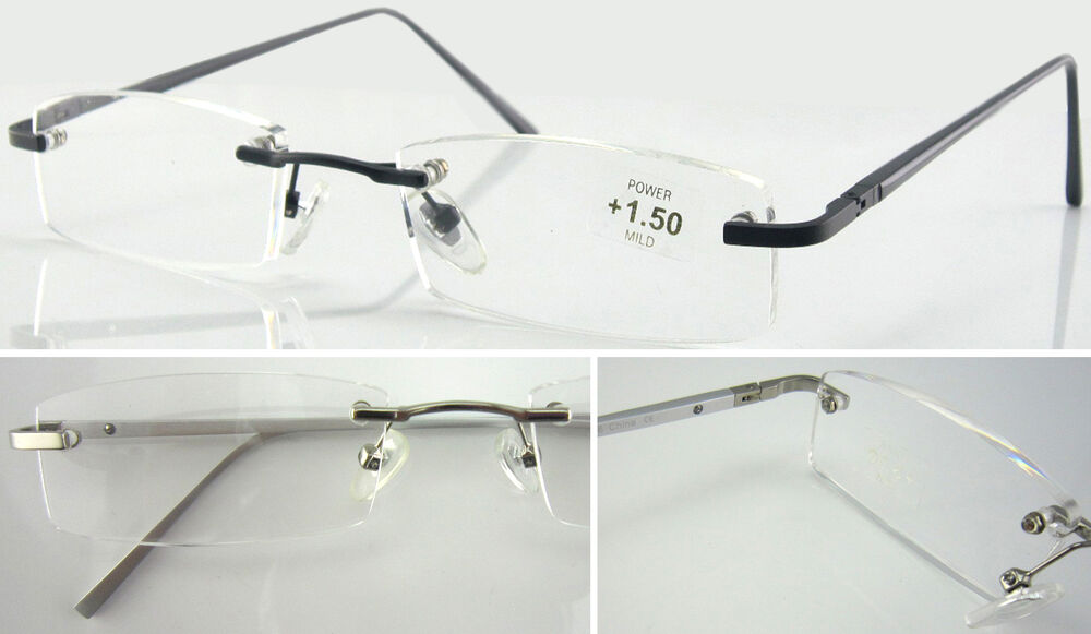 Rimless Glasses With Changeable Arms : L67 Superb Quality Rimless Reading Glasses/Aluminum Alloy ...