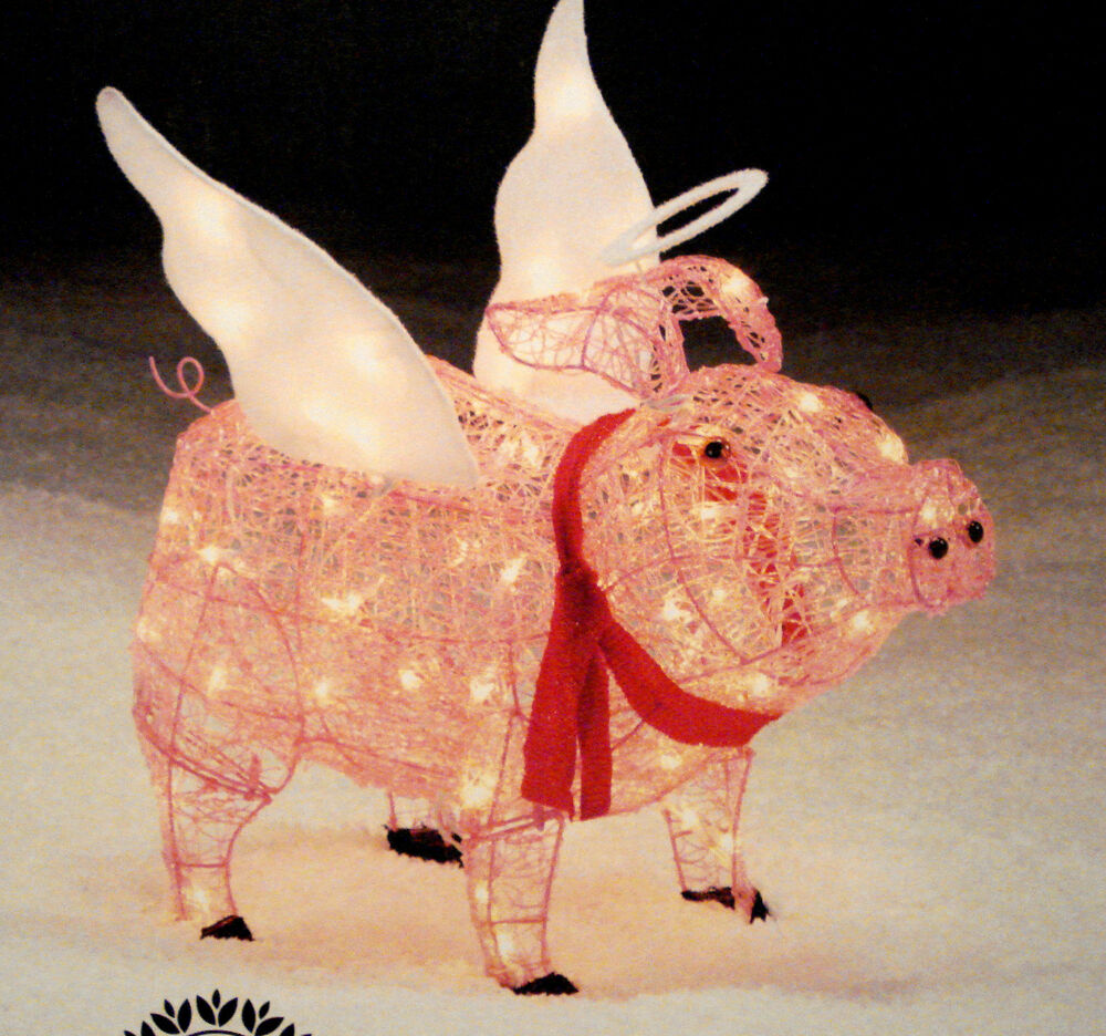 3 d lighted acrylic christmas pig holiday 28 sculpture