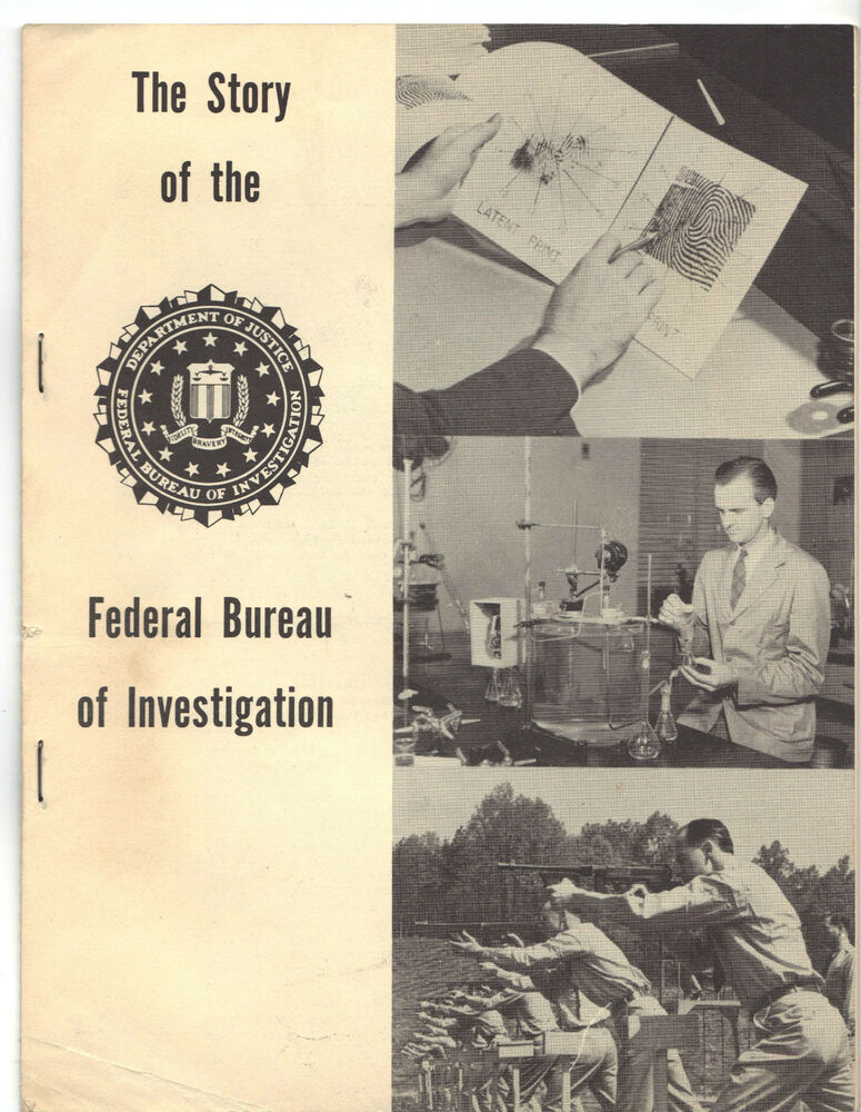 story of the federal bureau of investigation fbi limited printing 1959 ebay. Black Bedroom Furniture Sets. Home Design Ideas