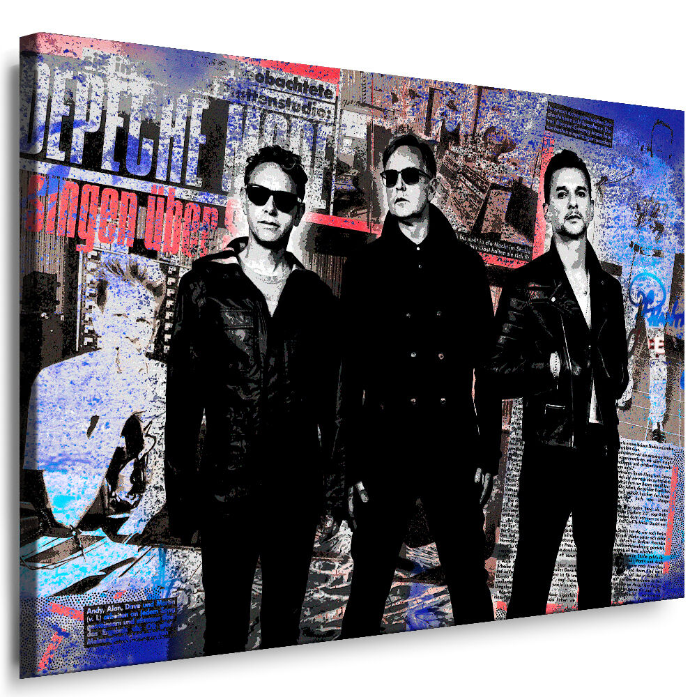 depeche mode bild auf leinwand wandbilder kunstdrucke poster leinwandbilder ebay. Black Bedroom Furniture Sets. Home Design Ideas