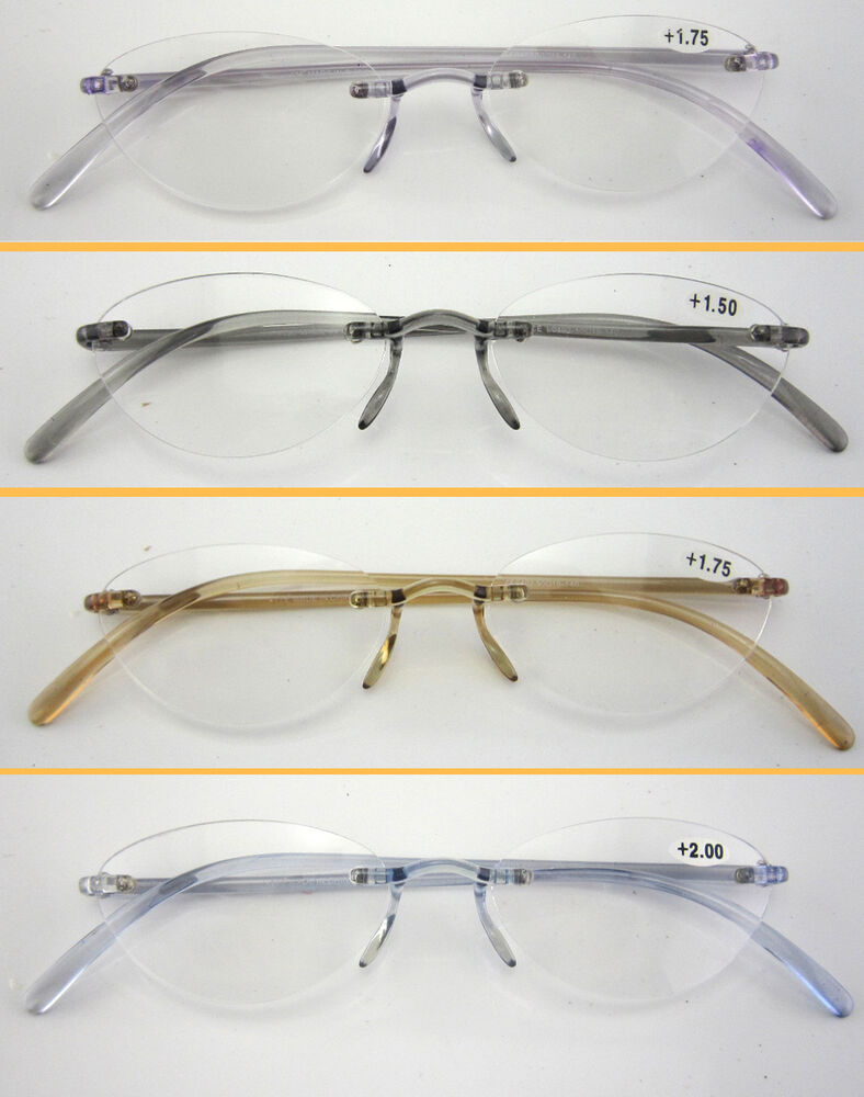 Super Lightweight Eyeglass Frames : L10 Super Lightweight Memory Plastic TR90 Rimless Reading ...
