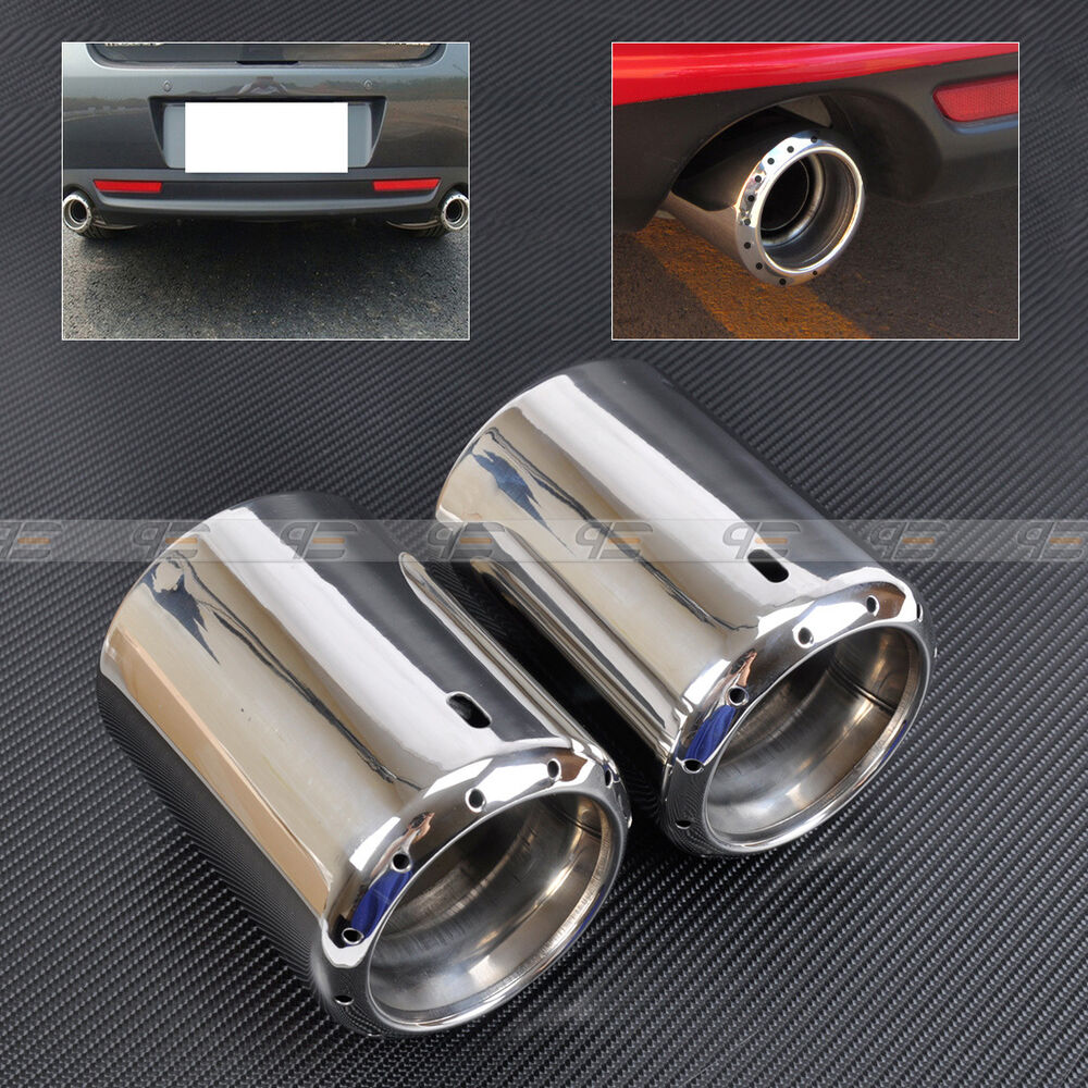 2 Exhaust Tail Rear Muffler Tip Pipe For 2009 2014 Mazda 6
