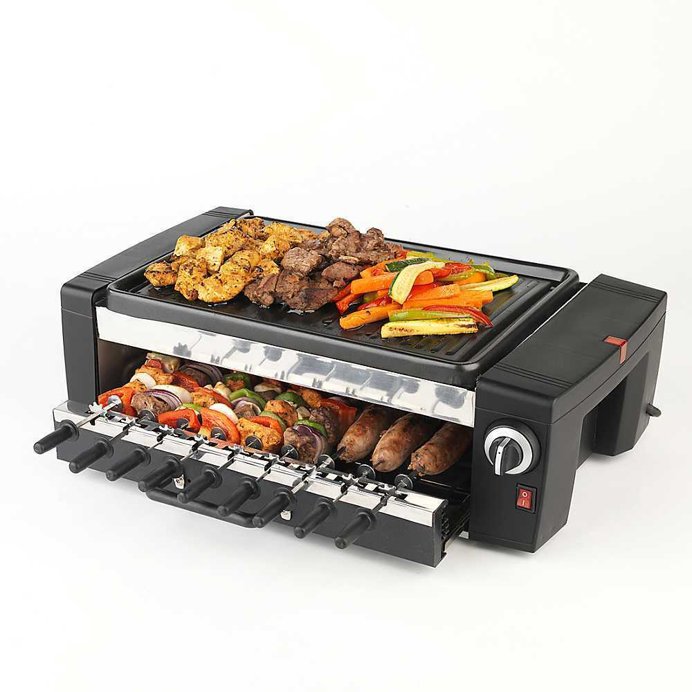 Grill Table Top Electric BBQ Home Barbecue 1200 watt 9 ...