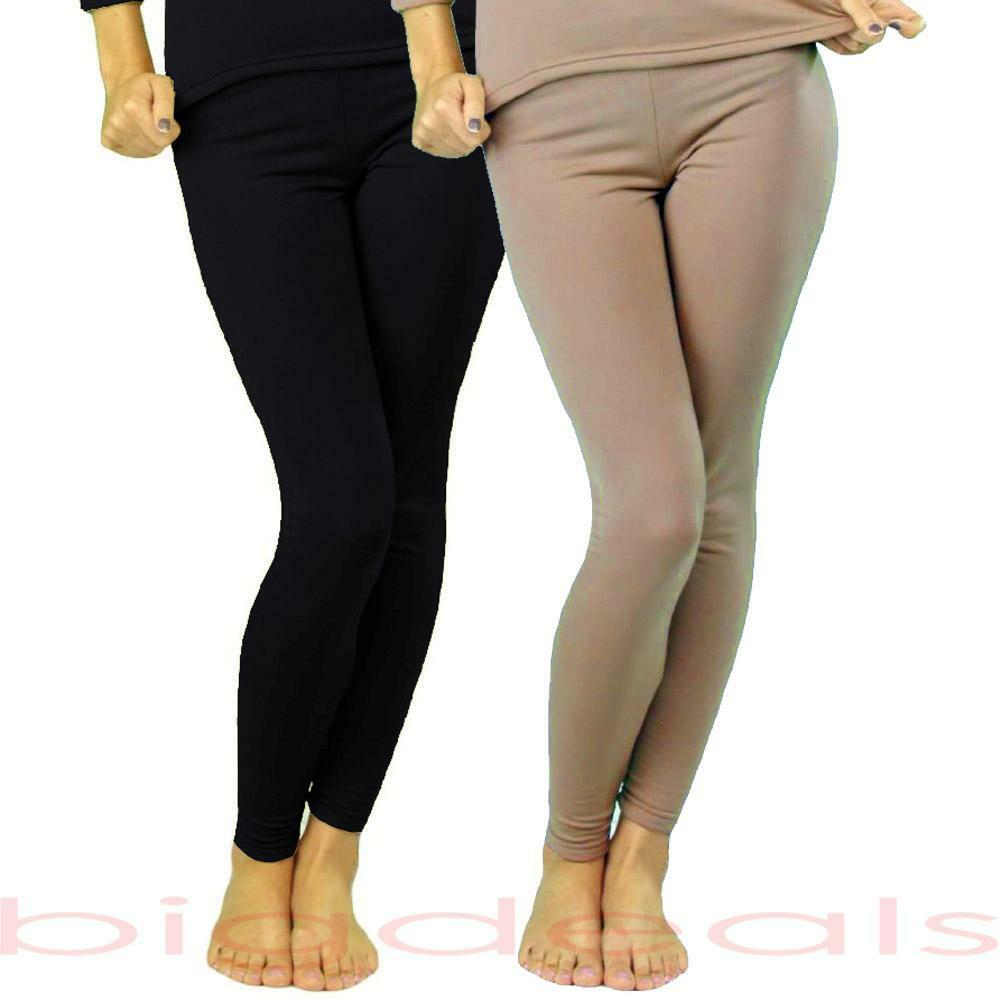 Fleece Lined Thermal Bottom Pant Legging Stretch Winter ...