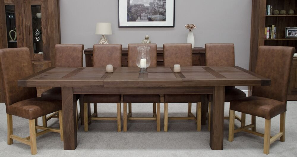 dark wood walnut dining room furniture grand extending dining table