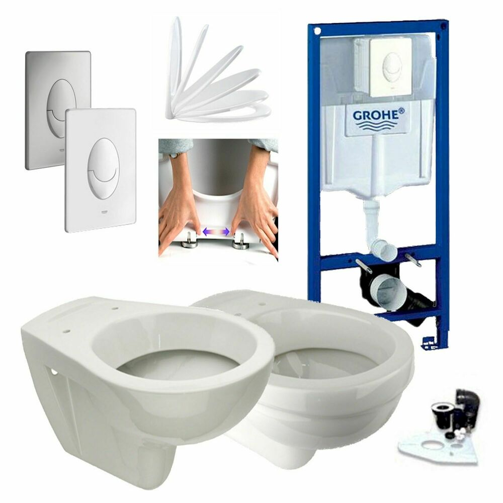 neu grohe sp lkasten vorwandelement wc set design wc dr ckerplatte komplett ebay. Black Bedroom Furniture Sets. Home Design Ideas