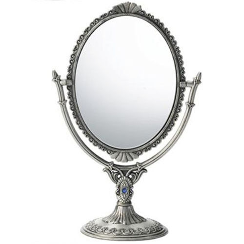 Both side antique standing mirror hand table makeup vanity for Antique standing mirror