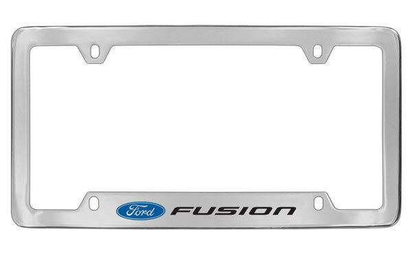 Ford Fusion Chrome Plated Metal Bottom Engraved License