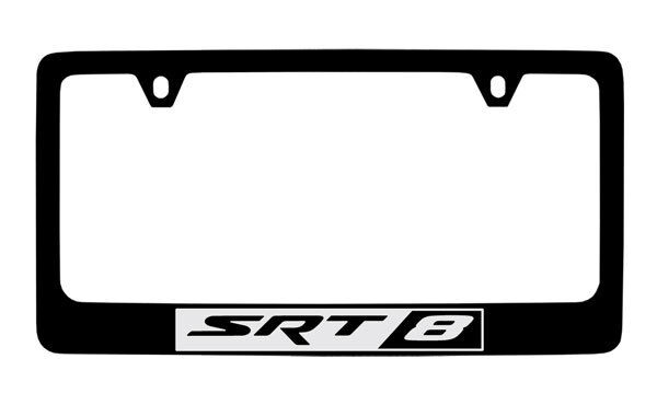 jeep srt 8 black coated metal license plate frame holder ebay. Cars Review. Best American Auto & Cars Review