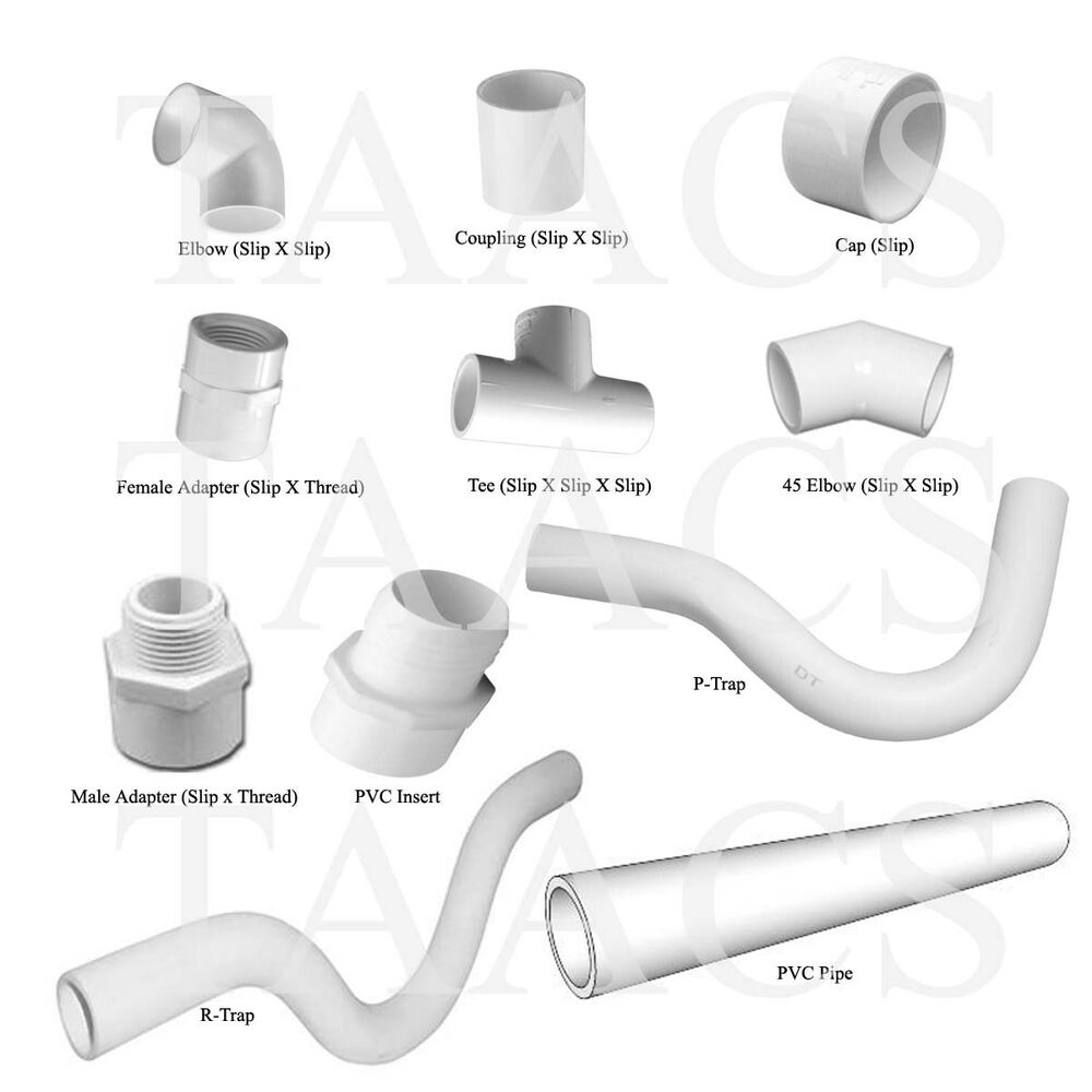 Pvc quot schedule fittings pipe coupling elbow