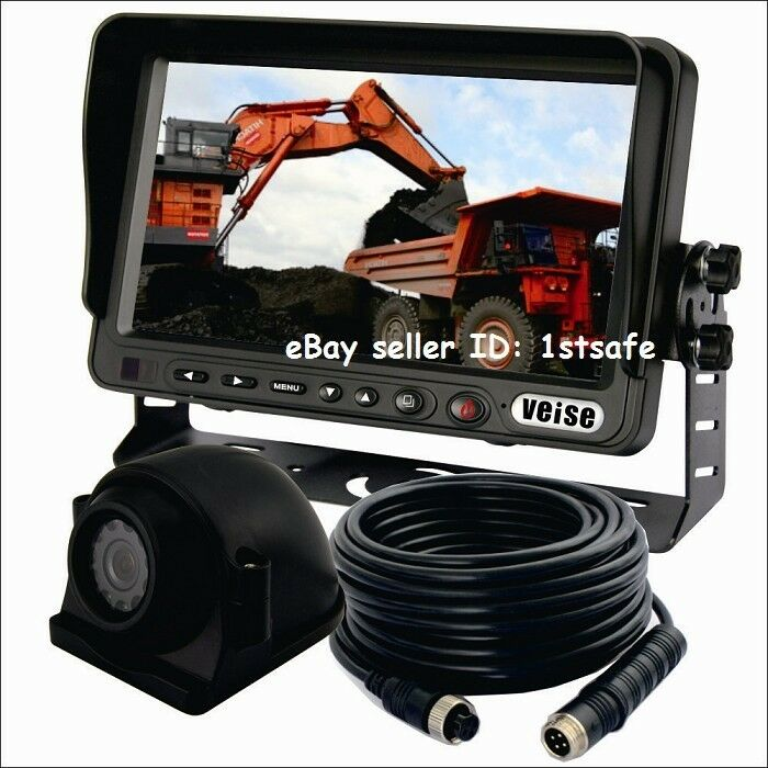 Cement Truck 7 Inch Rear View Backup Camera System