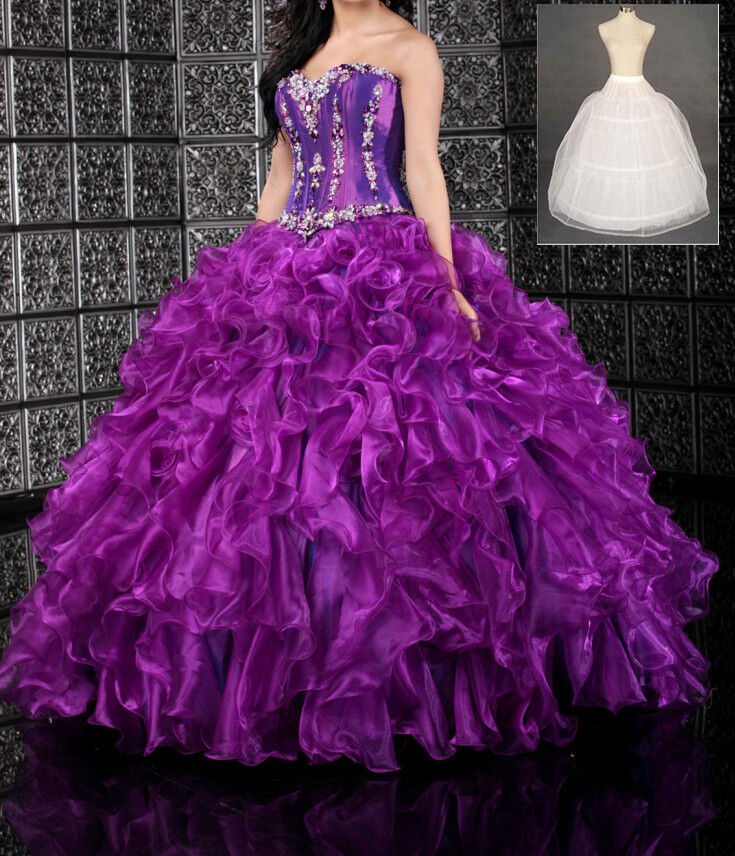 New 2013 organza ball gown prom dress quinceanera dresses for Ebay cheap wedding dress