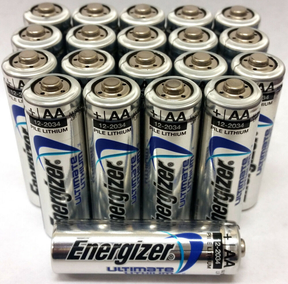 energizer ultimate lithium aa batteries 20 pack exp 2034 ebay. Black Bedroom Furniture Sets. Home Design Ideas