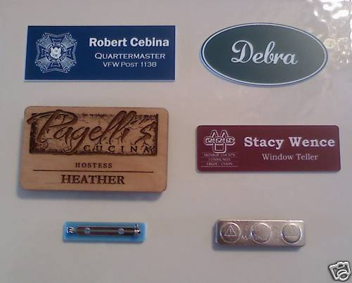 Name Badge: Custom Engraved Name Badges - Name Tags - FREE SHIPPING