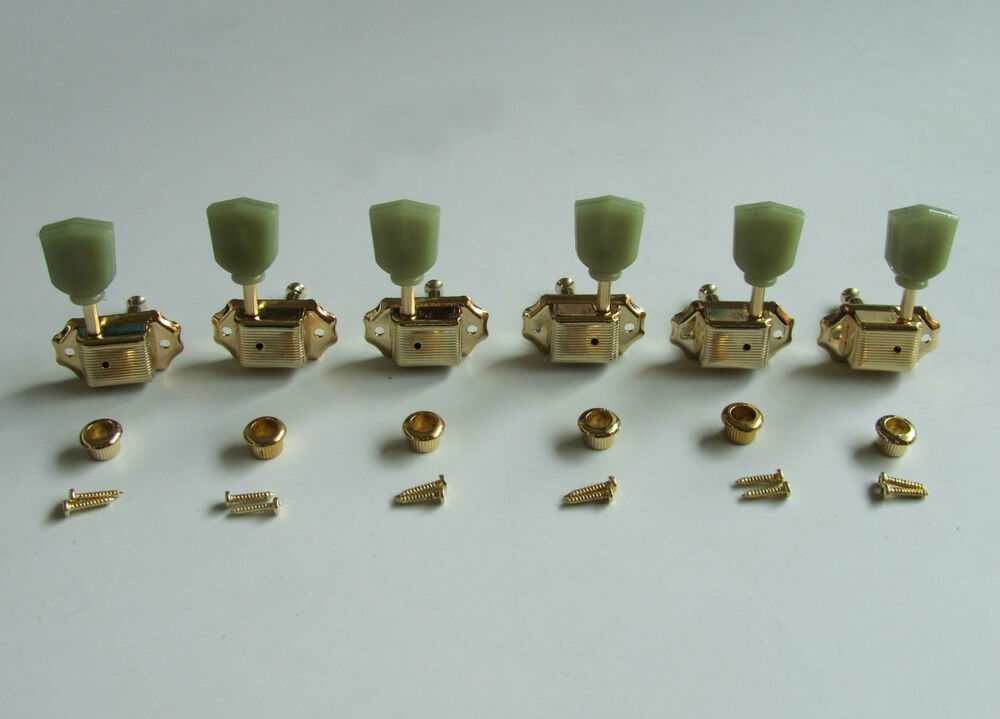 gold 3l3r deluxe tuning pegs keys guitar tuners machine heads fits lp epiphone ebay. Black Bedroom Furniture Sets. Home Design Ideas