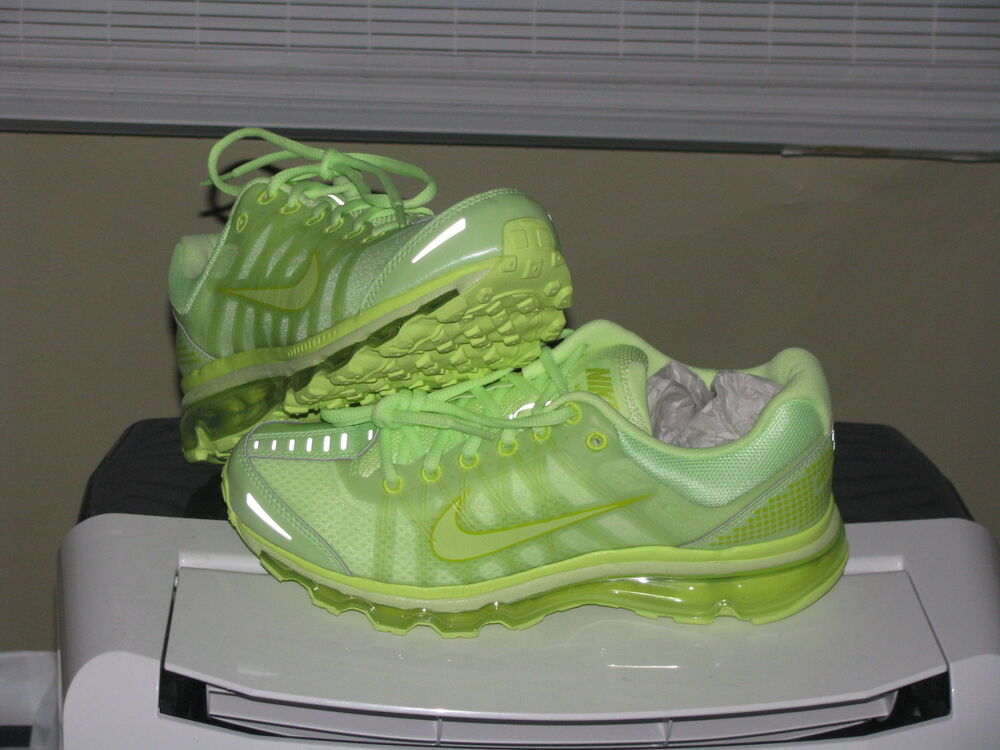Lime Green And Blue Nike Shoes